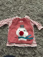 Next Baby 0-3 Months Snowman Top Set Worn Once