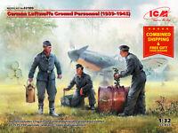 ICM 32109 - 1/32 German Luftwaffe Ground Personnel (1939-1945) 3 figures UK