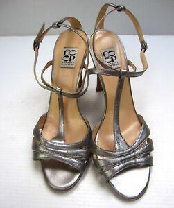 CO OP Barnerys New York slingbacks open toe shoe size 38 1/2 Metallic Silver