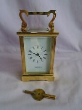 VINTAGE ENGLISH CARRIAGE CLOCK RETAILED BY MAPPIN & WEBB FULLY SERVICED + KEY