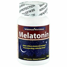 Natural Melatonin 5 MG 120 Tabs,Improve Sleep/Jet Lag Helper,FRESH,Made In USA