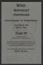 "1994 Wayne Gretzky's Restaurant, Holyfield vs Moorer Fight ""Table Talker"" 5x7 Ad"