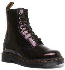 Dr Martens 1460 Sparkle Womens Leather Ankle Boots Purple Size UK 3 - 8