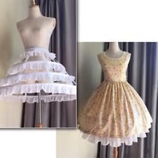 3Hoop Fishbone Bustle Petticoat Victorian Gothic Lolita Girl Chiffon Underskirt