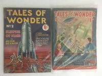 Tales of Wonder #2 & #11 Science Fiction Fantasy Vintage Pulp Magazines 1938/40