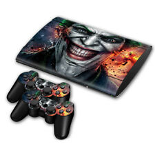 PS3 SUPER SLIM Console Skin Sticker Protector New The Joker + 2 Controllers