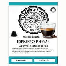 100 Nespresso capsules pods compatible FRESHLY ROASTED gourmet coffee RHYME