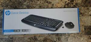 NEW HP Wireless Classic Desktop LV290AA#ABA Black Wireless USB 2.4 GHz Wireless