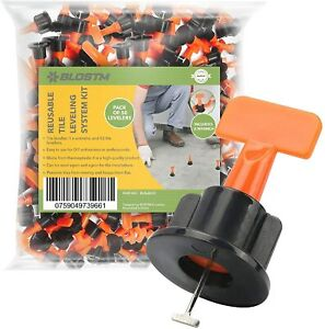 50 x Reusable Tile Levelling System Tool Kit Spacer Leveller Floor Wall Clips