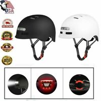 Ultralight Adult Bike Safety Helmet Cycling Bicycle USB Tail Light Black USA