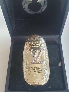 EXKLUSIVER XL LUXUS LOUIS VUITTON RING,Gold585/14K,KÖNIGS-RING BREIT & MASSIV,1A