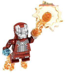 Iron Man Downey Avengers Marvel Endgame MK5 Tony Stark Custom Lego Mini Figure