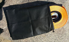1xBLACK RECOVERY STRAP STORAGE BAG for Snatch, Winch, & Other 4WD / 4x4 Straps