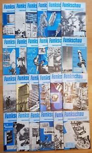24x Funkschau 1959 Funktechnik Zeitschrift Hefte alt Franzis Radio TV Kamera