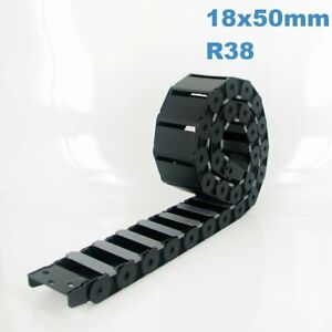 18x50mm R38 Nylon Energy Drag Chain Cable Wire Carrier CNC Router 3D Printer Mil