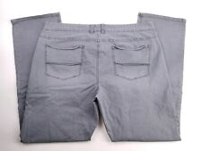 Tommy Bahama Gray Cotton Blend Chino Flat Front Casual Pants Mens 40x32