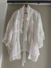 Anthropologie Semisheer zip ivory /Blush Pink ramie Jacket  Top M/L NEW