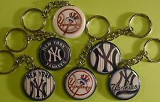 Set of 6 Key Chains NEW YORK YANKEES Logos RETRO Key Chain