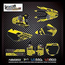 Suzuki RM85 02-14 Rockstar Kit Yellow Decal Sticker MX (383)