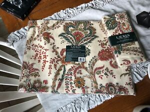 RALPH LAUREN AVERY PAISLEY TAN   NEW 4 PLACEMAT'S AND 4 NAPKINS