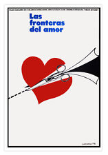 Cuban movie Poster 4 film FRONTIERS of Love.Fronteras del amor.Cutting hearts.