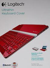 Logitech Ultrathin Keyboard Cover Bluetooth-Tastatur iPad 4,3,2 ROT QWERTZ - Neu