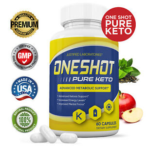 One Shot Pure Keto Pills Boost Weight Loss Diet Pills BHB Ketogenic Supplement