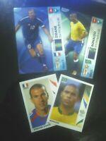 ZIDANE + RONALDO PANINI 2 CARDS + 2 STICKERS WORLD CUP 2006 GERMANYMINT