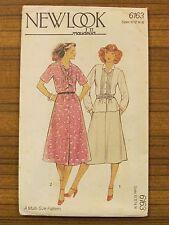 NEW LOOK (maudella) - 6163 LADIES DRESS SKIRT TOP SHIRT NECK TIE 10 - 16 UNCUT