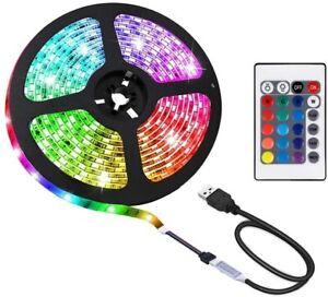 2m USB RGB TV Backlight Strip Light 5050 Strip Light 24 keys Remote Controller