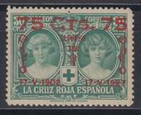 ESPAÑA (1927) NUEVO SIN FIJASELLOS MNH SPAIN - EDIFIL 381 (75 cts + 50 cts)