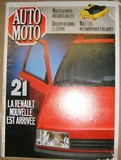 Auto Moto N° 44 1985 Renault 21 Noël les métamorphoses du jouet Opel Kadatt Auto