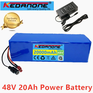 48v Lithium ion Battery 48V 20Ah 1000W 13S3P For 54.6v Electric Bicycle +Charger