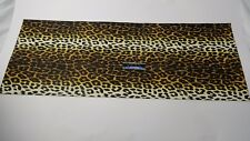 "Vintage Arctic Cat Seat Vinyl White & Yellow Leopard 13.5"" x 36"" ,1971 1972 Puma"
