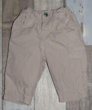 ~ Superbe pantalon en coton beige doublé DPAM garçon 3 mois ~