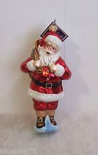 Slavic Treasures Ornament Classic Claus Hand Blown Glass Christmas Nib S1 & 19