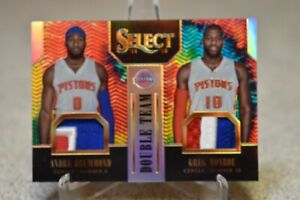 Andre Drummond Greg Monroe Select Tye Dye Dual Patch 9/25
