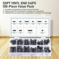130pc Black Vinyl Rubber Caps for Hose Covers Screw Covers Furniture Covers More