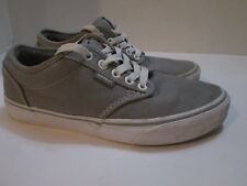 Vans Women's Low Canvas Skate Tennis Shoes Gray and White Size 7
