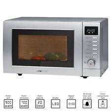 Microondas con Grill pantalla digital plata 20 litros 700W/900W Clatronic