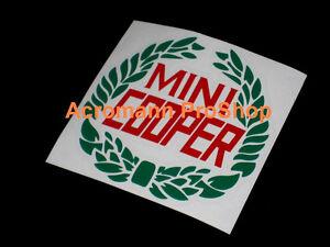 "2x 3.5"" 8.9cm Mini Cooper Laurel dual Decal Sticker classic rally austin morris"