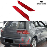 ABS Pair Rear Bumper Reflector Lamps Lights Red for VW Golf 6 MK 6 2009-2013 RED