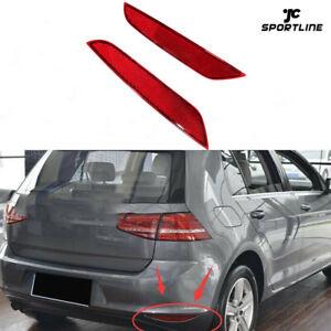 2xHinten Reflektorleuchte Stoßstangen Reflektor für VW Golf 6 MK6 VI  Rot 09-13