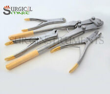 4 PIN & WIRE Cutter Set T/C Jaw Orthopedic Surgical Pliers Veterinary