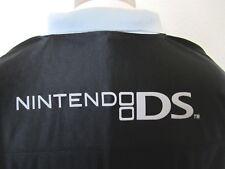 Nintendo DS Black Gray Polo Polyester Promo Employee Shirt Size Large L