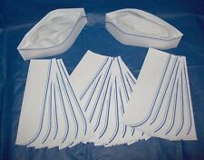 20 New Soda Jerk Ice Cream Paper Costume Party Hats Sailor Craft Stampin Up Blue