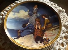 "Knowles Plate, Norman Rockwell, ""Waiting On The Shore"" with No Papers Included."