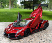MZ 1:24 Lamborghini VENENO Static Alloy Super Sports Car Model Boys Toys Gift