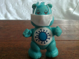 "CUSTOM Vintage 3"" Poseable Medical Lockdown VIRUS FATIGUE Care Bear & Accessory"