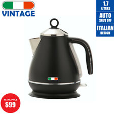Vintage Electric Kettle 1.7L Italian Design Stainless Auto 2200W not Delonghi
